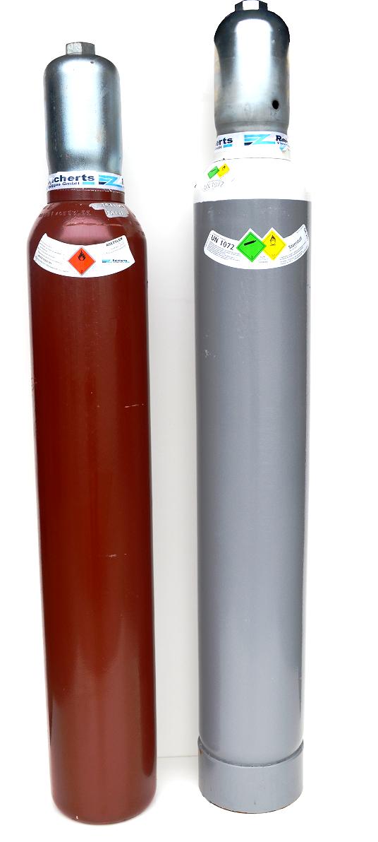 acetylen sauerstoff p rchen 10 liter gef llt. Black Bedroom Furniture Sets. Home Design Ideas