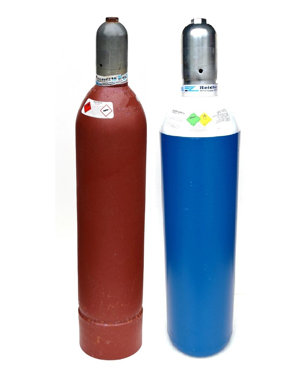 acetylen sauerstoff p rchen 20 liter gef llt. Black Bedroom Furniture Sets. Home Design Ideas