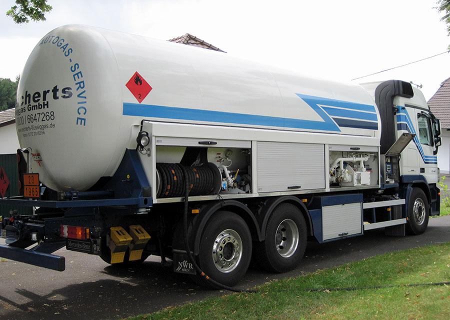 Lieferung Flüssiggas Tankwagen