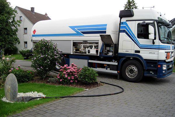 Flüssiggas Lieferung bis an die Haustüre