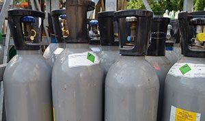Kohlensäureflaschen mit Steigrohr